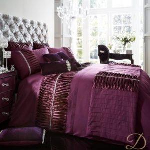Silky Pleats Duvet Set - Aubergine