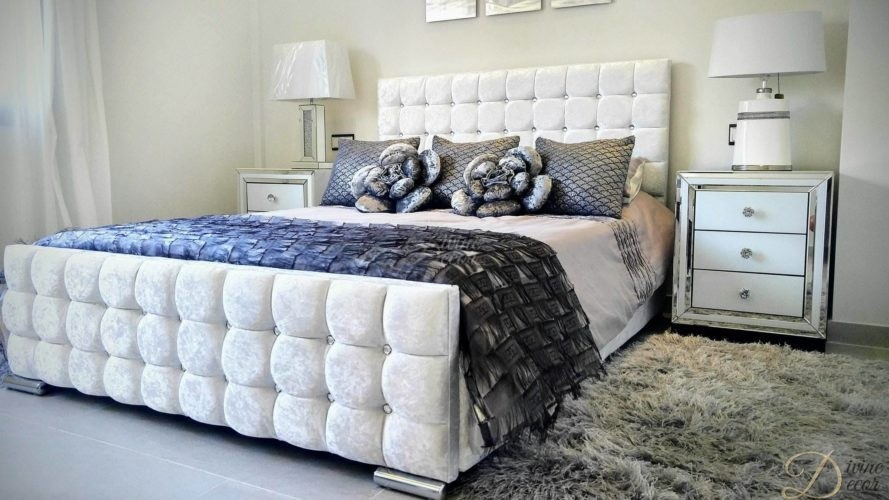 Malaga upholstered frame bed in furniture bedroom beds - Furniture malaga ...